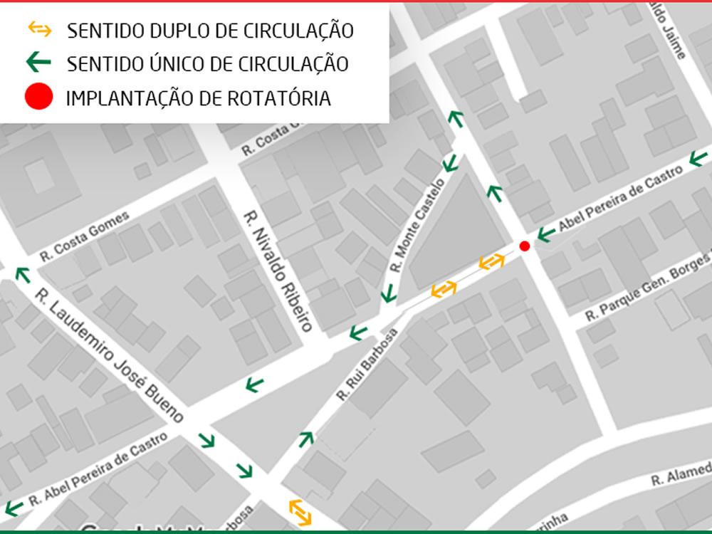 Imagem de Rua Abel Pereira de Castro terá novo sentido de circulação