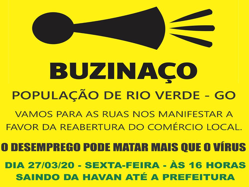 Imagem de Comerciantes prometem protesto pela reabertura do comércio em Rio Verde
