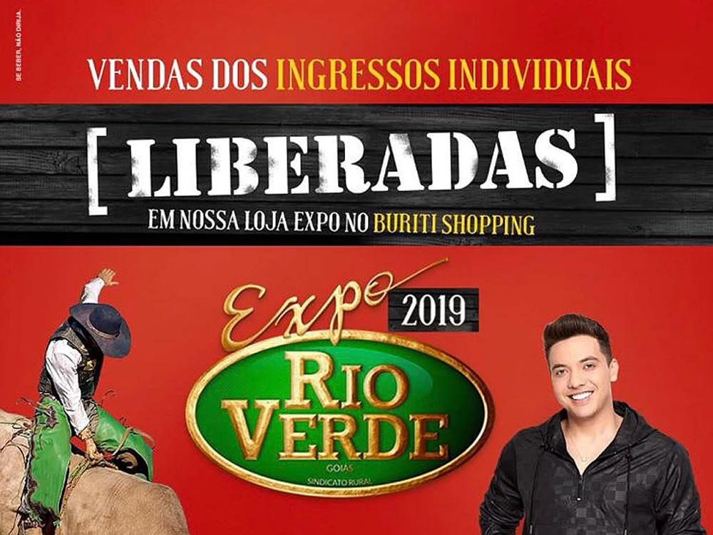 Imagem de Liberadas as vendas dos ingressos individuais da Expo Rio Verde 2019