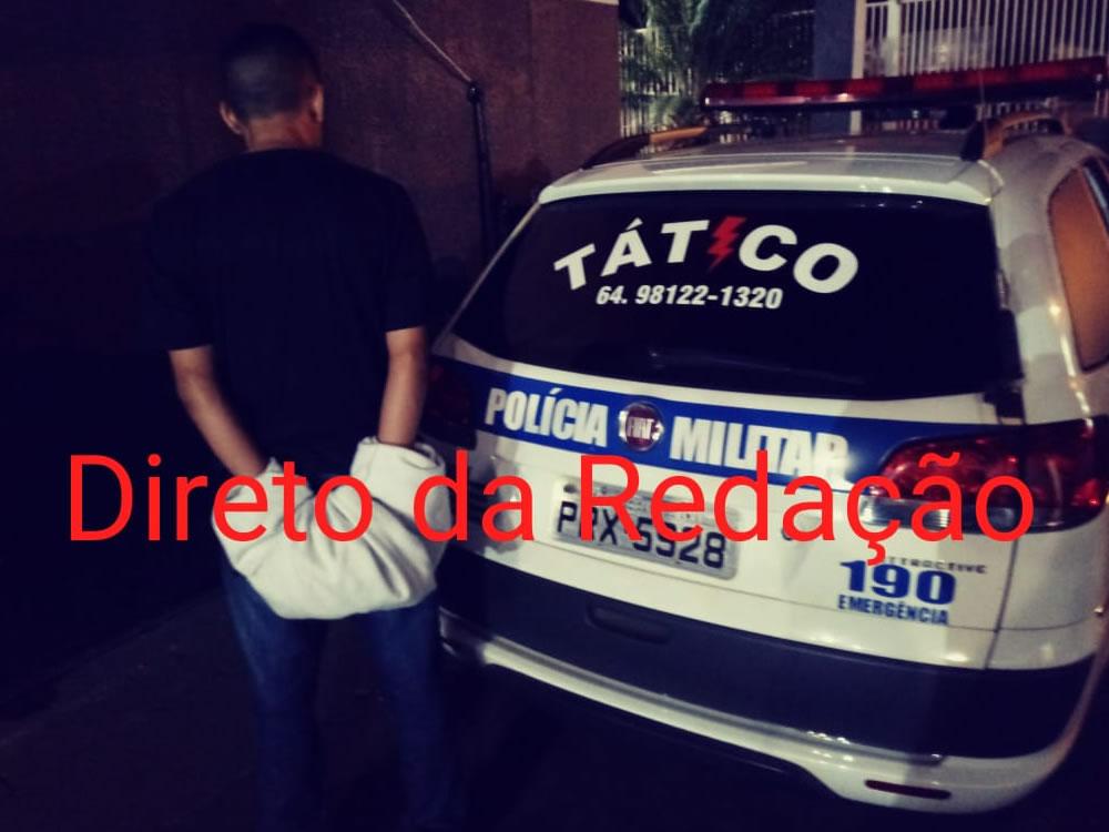 Imagem de Acusado de tráfico preso pela PM  em Rio Verde
