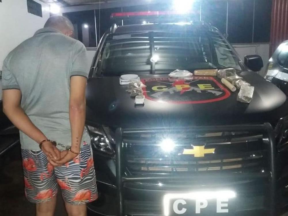 Imagem de Traficante preso em flagrante no Bairro Popular, em Rio Verde