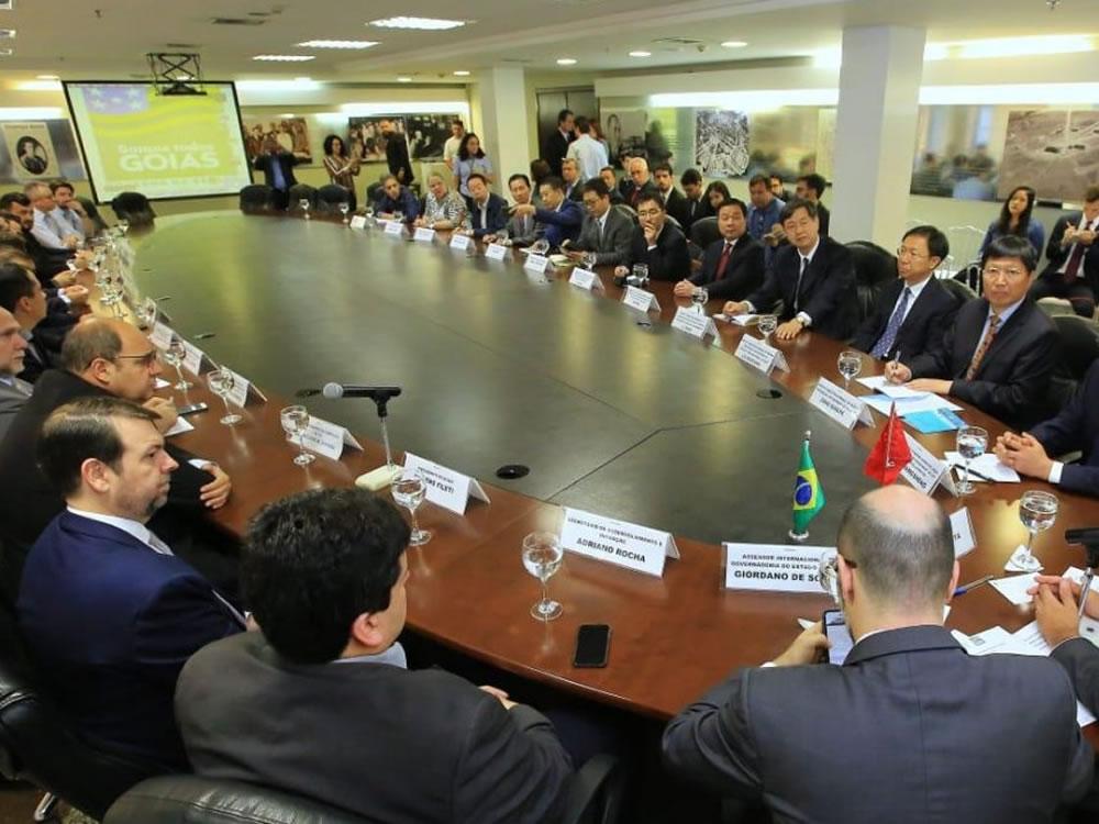 Imagem de Reunião intensifica parceria entre Goiás e China