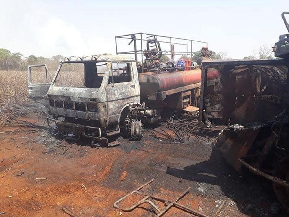 Imagem de Incêndio leva terror a região de Santa Helena de Goiás