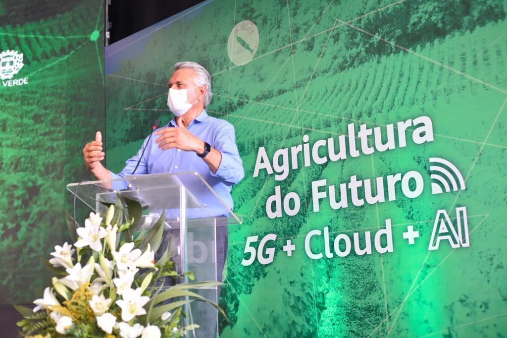 """Imagem de """"Brasil vai voltar os olhos para Rio Verde"""", diz Caiado no lançamento pioneiro do 5G"""