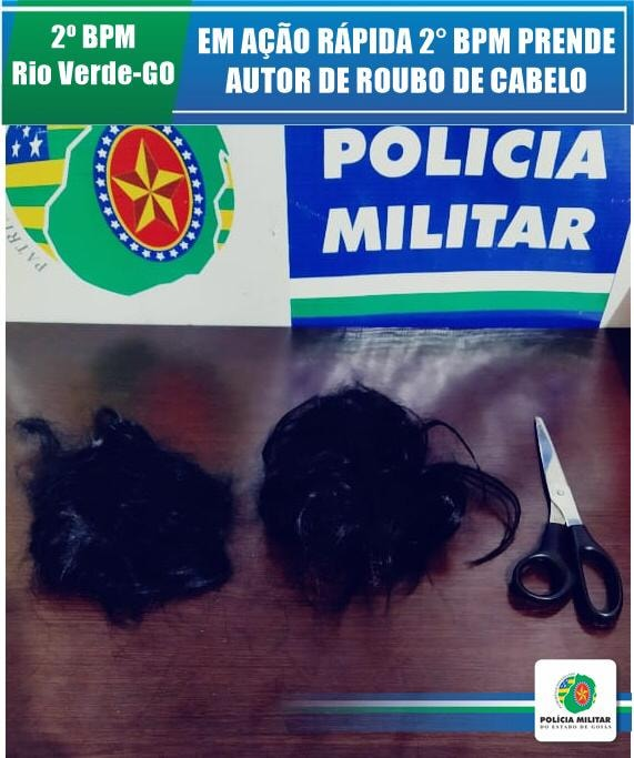 Imagem de Ladrão de cabelo é preso em flagrante em Rio Verde